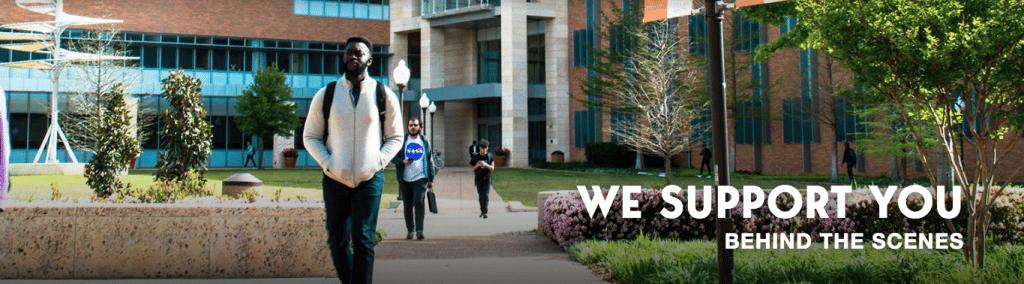 UTA campus students
